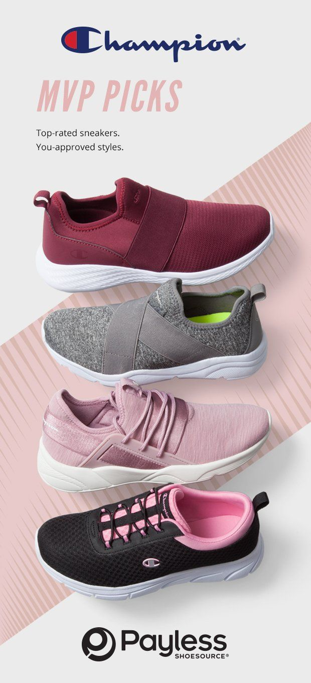 115b7f0b7646a6 Shop Payless for a large selection of women s sneakers and athletic shoes  to fit your lifestyle. Champion shoes. Tennis shoes. Affordable fashion.