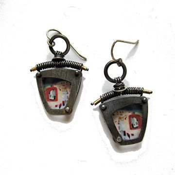 landscape earrings by Tish Collins  ~  x