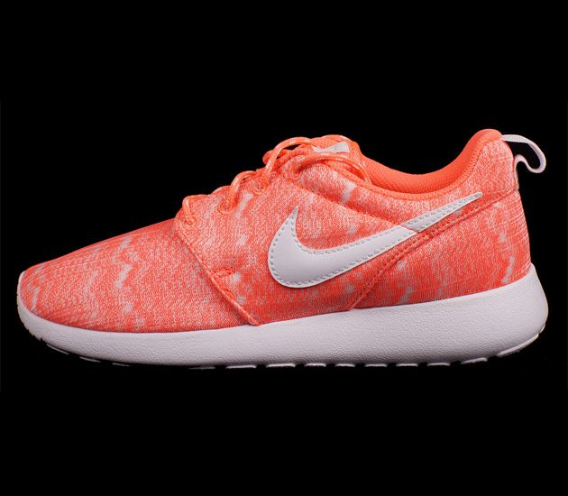 Nike Roshe Run Print GS – Bright Mango / White
