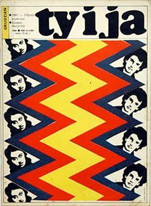 A cover of TY I JA magazine, a legendary 1970s lifestyle magazine, designed by Roman Cieslewicz.
