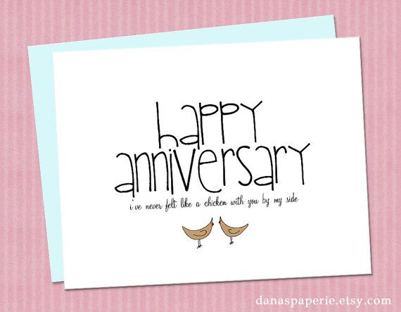 Funny anniversary card for husband or wife quot i ve never