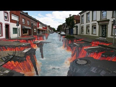 Amazing  3d street painting in the world | Sidewalk art