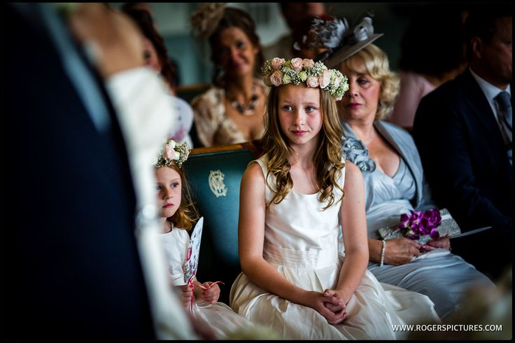 Wedding flower girl in the Long Room at Lords Cricket Ground