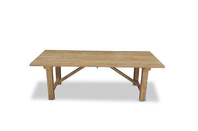 Industrial Teak Timber Outdoor Dining Tables 8 Wicker Furniture & Dining Chairs