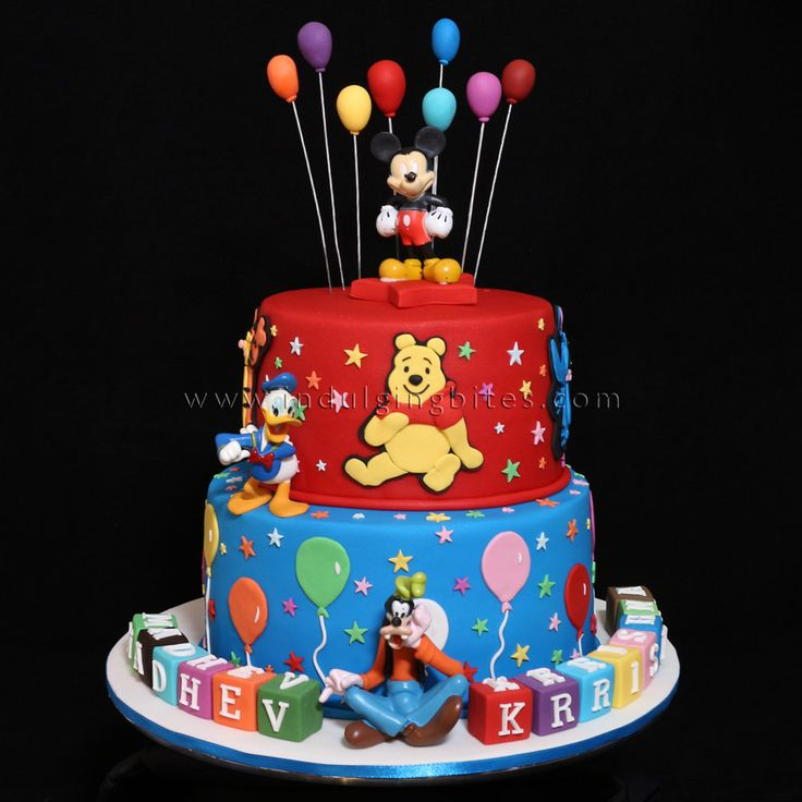 Two Tiers Mickey Mouse & Friends Birthday Celebration Cake