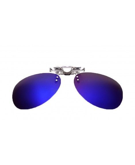 603caf9c3c8 Mirrored Polarized Clip-on Flip up Stainless Steel Sunglasses Lenses -  Mirrored Dark Blue - CA12EYSDSSV