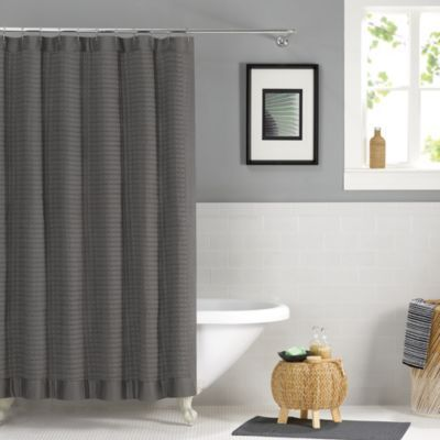 dark grey shower curtain. Real Simple Retreat 72 Inch x Shower Curtain in Grey from Bed 8 best Curtains  Gray images on Pinterest