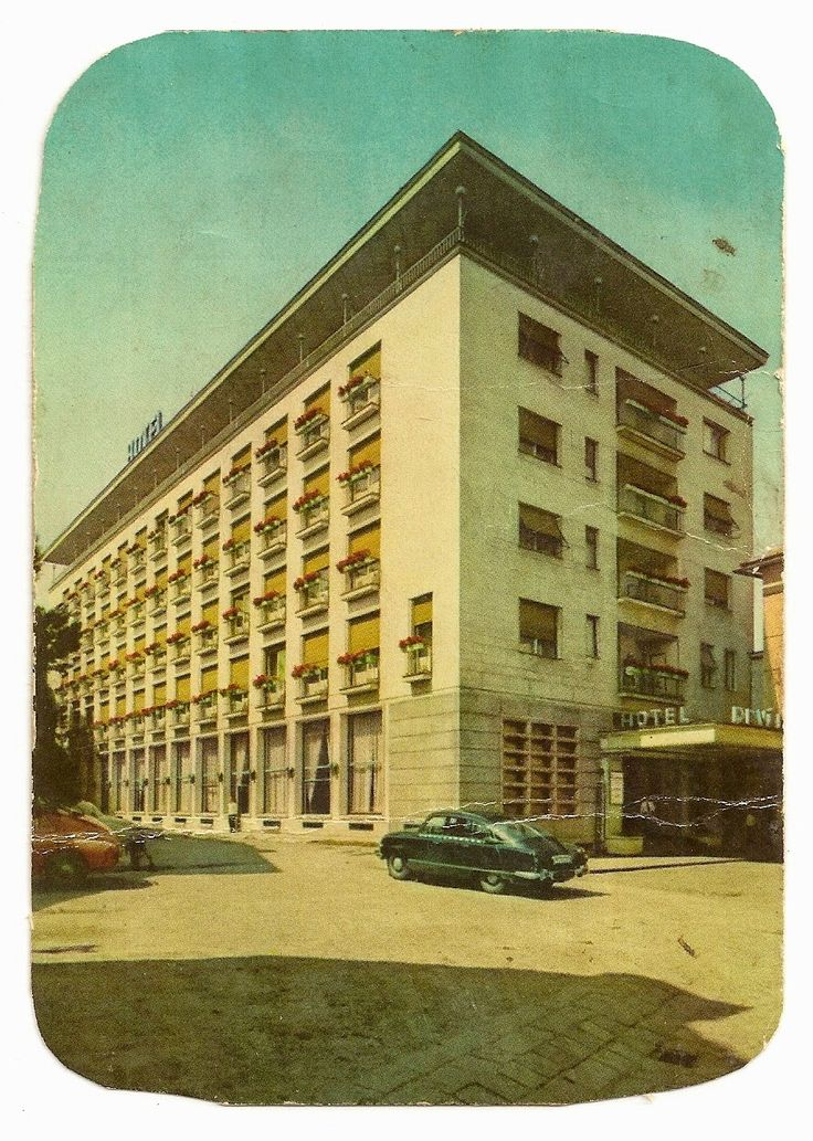 stamp and postcard: The look of Bratislava 2.12.unknown year hotel devin