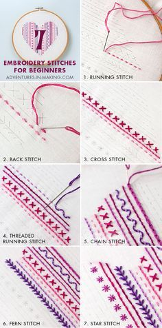 DIY: Heart Embroidery Sampler (For Beginners) | DIY Fun Tips