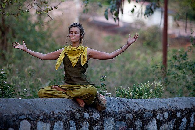 Yoga in Rishikesh by Swiatoslaw Wojtkowiak, via Flickr