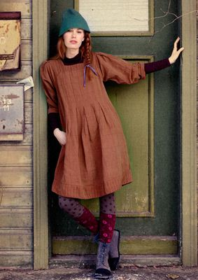 Checked linen & cotton dress – Country style in muted tones – GUDRUN SJÖDÉN – Webshop, mail order and boutiques | Colourful clothes and home...