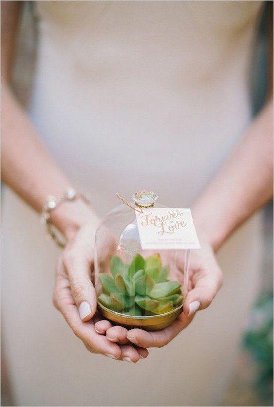 succulent wedding favor / http://www.himisspuff.com/geometric-terrarium-wedding-ideas/2/