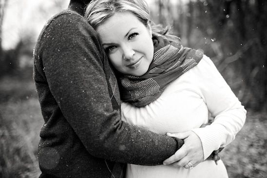 Sweet and Snowy Maternity Session