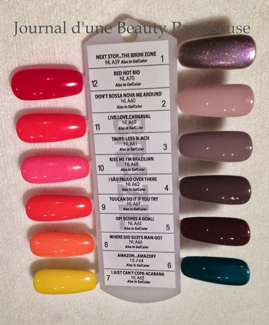 OPI Brazil collection 2014. I definitely want Red Hot Rio.... And basically all of the ones on the left side.