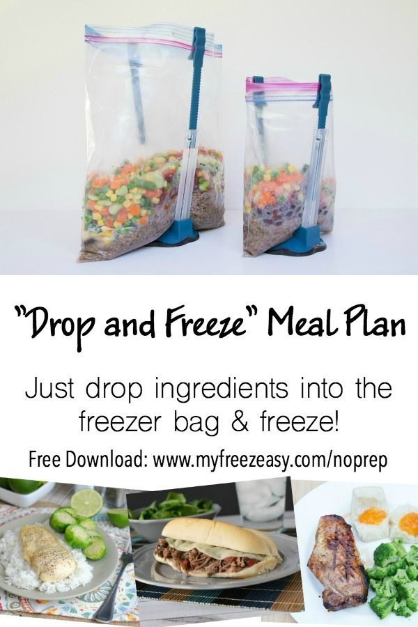 FREE Drop & Freeze Meal Plan download - the fastest way to get dinner on the table every night!