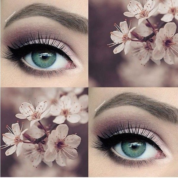 """makeup on Instagram: """"Happy first day of spring!?? I'm going to be... ❤ liked on Polyvore featuring beauty products, makeup, eye makeup, eyeshadow, eyes and prom eye makeup"""