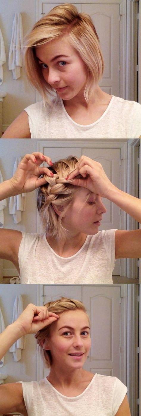 Einfache Frisuren für Frauen mit kurzen Haaren