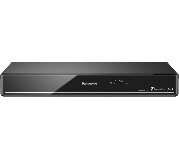 PANASONIC  DMR-PWT550EB Smart 4k Ultra HD 3D Blu-ray Player with Freeview Play Recorder - 500 GB HDD Price: £ 259.00 Enjoy your Blu-ray and DVD collection with the added benefit of recording TV content using the 500 GB Panasonic DMR-PWT550EB Smart 4k Ultra HD 3D Blu-ray Player with Freeview Play Recorder . Record TV With a 500 GB hard disk drive, the DMR-PWT550EB is capable of recording up to...