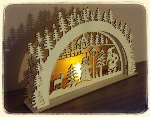 Simira - Vánoční dekorace se svíčkou - stickywood