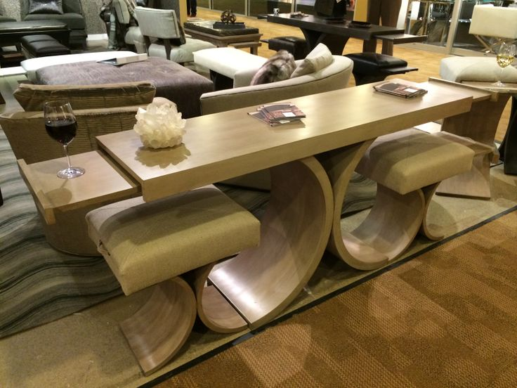 Function and Form with the Giana Console Table and Giana Bench   pull out  drink trays. 111 best images about High Point Market Spring 2014  HPMKT2014 on