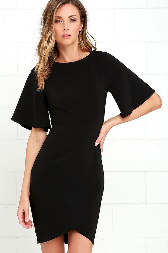 Click to order Women Summer 2017... If you like please click the like button button http://isaledresses.com/products/women-summer-2017-sexy-ukraine-black-club-tunic-dress-half-flare-sleeve-v-back-bodycon-mini-dress-irregular-hem-day-to-night?utm_campaign=social_autopilot&utm_source=pin&utm_medium=pin  Global Shipping!