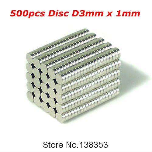 500 pcs massal kecil bulat NdFeB neodymium, Magnet disc, Dia 3 mm x 1 mm N35 Super kuat kuat tanah jarang, Ndfeb Magnet