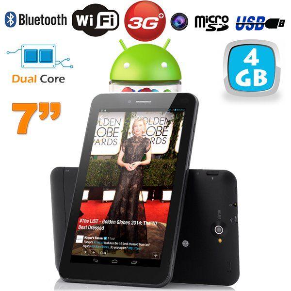 Tablette tactile 3G Dual SIM 7 pouces Dual Core Bluetooth GPS. http://www.yonis-shop.com/tablette-7-pouces-3g/2019-tablette-tactile-3g-dual-sim-7-pouces-dual-core-bluetooth-gps-4-go.html