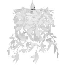 Buy Hummingbird Ceiling Pendant Light Shade in White from our Pendants range - Tesco.com