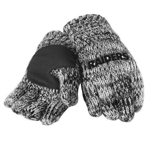 Oakland Raiders Team Logo Winter Peak Gloves