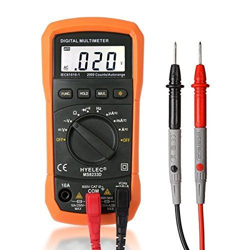 Multimeter Crenova MS8233D Auto Ranging Digital Multimeter AC Voltage Detector Portable Tester Meter Electronic Measuring Instrument Audible Continuity Tester with LCD Display Backlight Multimeter Crenova Electronic Instrument Continuity is a top pick of a deal among the hot selling products in Industrial category in UK. Click below to see its Availability and Price in your country.