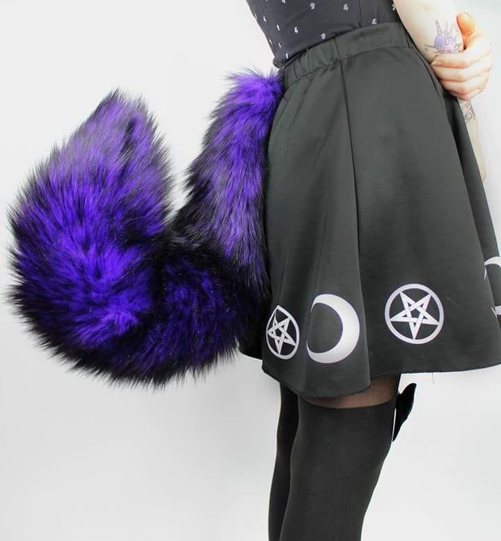 Purple and Dark Gray Black Wolf Furry Ears Black wolf ears Purple Fursuit Ears
