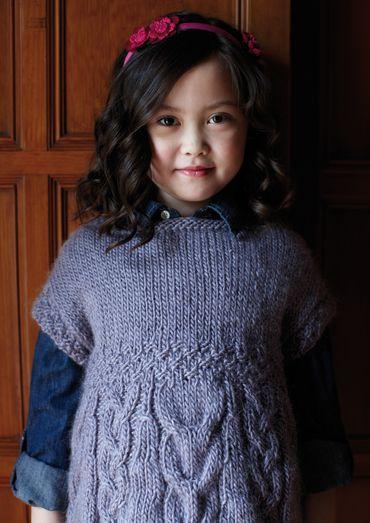 76463cdf4fa Mabel Tunic Sweater for Girls Free Knitting Pattern