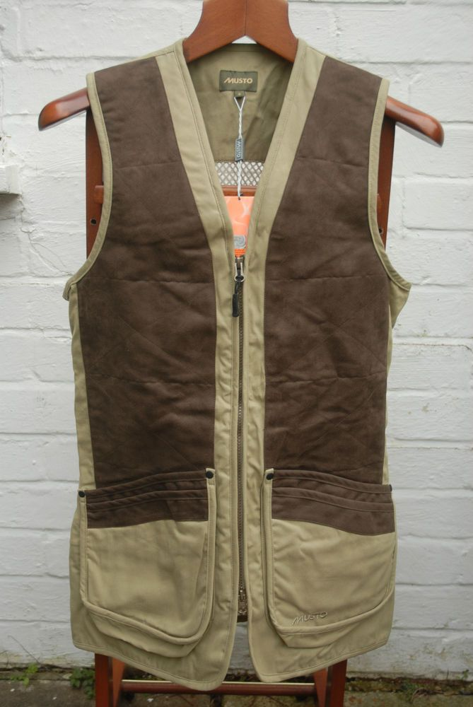 BNWT Musto Clay Pigeon Game Shooting Vest Waistcoat Small RRP £94.95 in Sporting Goods, Hunting, Clothing | eBay
