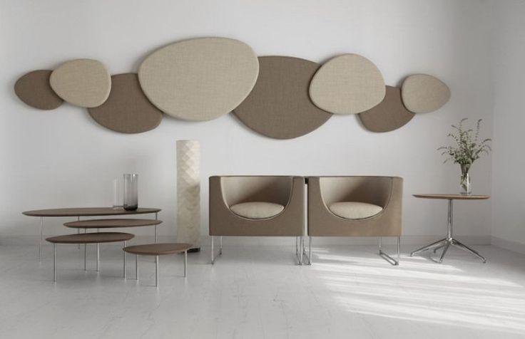 panneau acoustique décoratif: galets beige et gris, SATELLITE, Jon Gasca