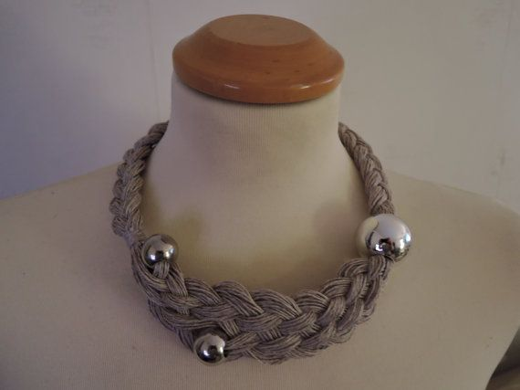 Linen necklace