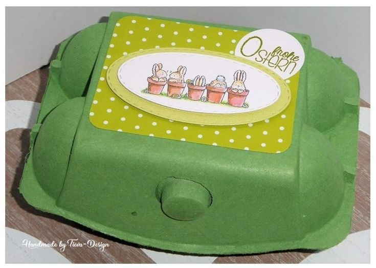 Wieder eine österliche Box… dieses mal in grün – Easter-egg-boxAchtung ggf. …