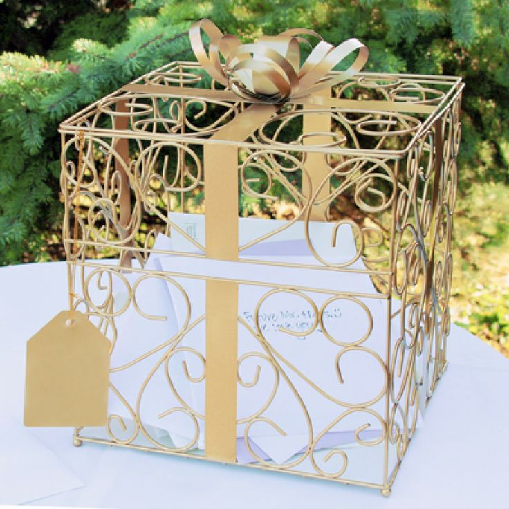 Gift Card Box For Wedding Reception: Square Reception Gift Card Holder [228-1943 Wedding Card