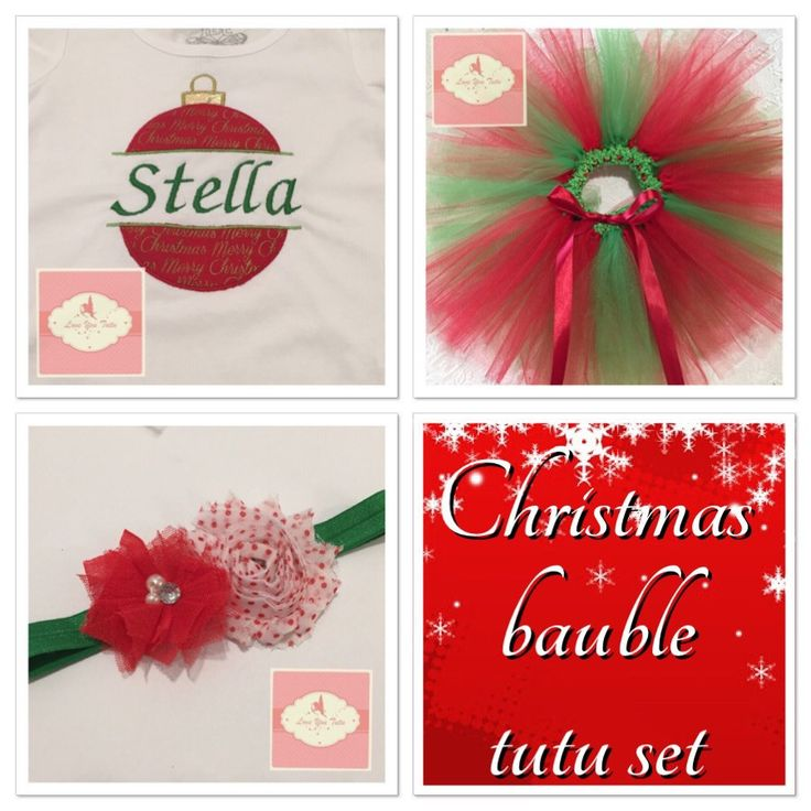 Embroidered personalized Bauble tutu set