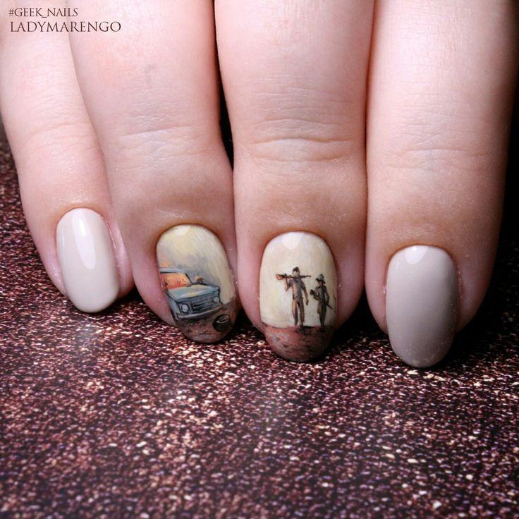 #geeknails  #шеллак #гельлак #нейларт #ногти #маникюр #дизайнногтей #nailart #naildesign #thewalkingdead