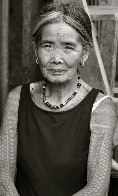 Apo Whang-od, traditional tattoo practitioner from the Philippines. She should be a national treasure.
