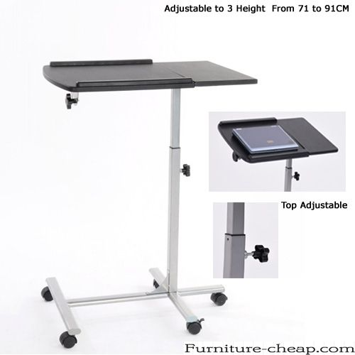 Adjustable laptop table stand. Height adjustable laptop stand ,Adjustable to 3 Height From 71 to 91CM - Height and Top Adjustable Laptop Desk - Rolling Laptop table