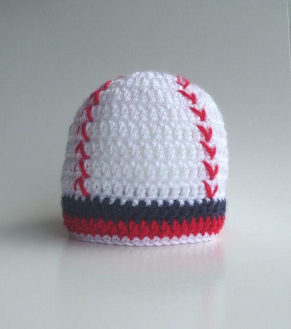 Baby Baseball Hat CROCHET PATTERN Photo Prop Boy by zxcvvcxz #babyhat #baby #baseball