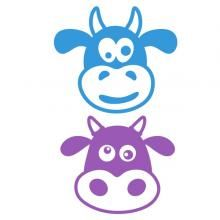 Funky Cow SVG Cuttable Design
