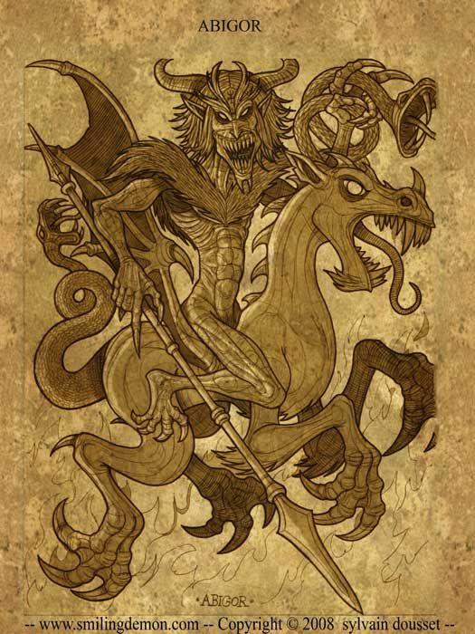 Abigor , also known as Eligos , commands 60 legions . He ... Агалиарепт