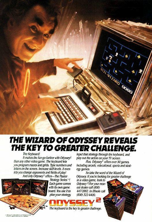 "MAGNAVOX ODYSSEY 2 ""The Wizard"" Vintage Ad"