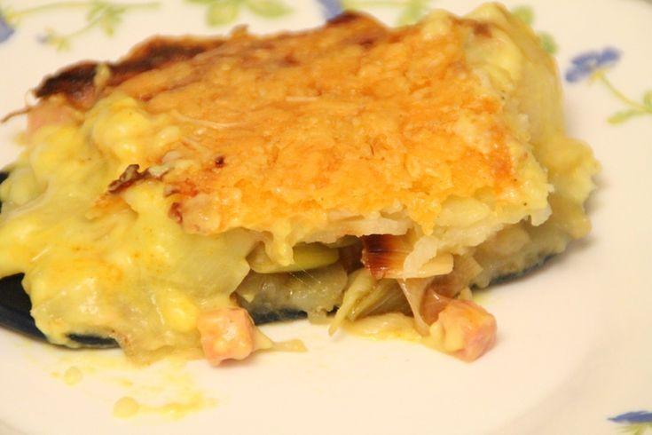 Gratin de poireaux pomme de terre au curcuma a four hollandaise dutch oven pinterest gratin - Gratin de pommes de terre au four ...