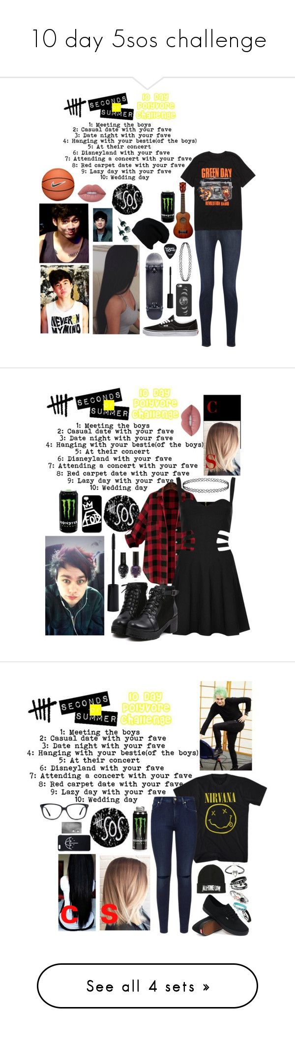 """""""10 day 5sos challenge"""" by xxghostlygracexx ❤ liked on Polyvore featuring Vans, J Brand, Hot Topic, Casetify, Smashbox, NIKE, Lime Crime, Rare London, Samsung and 7 For All Mankind"""