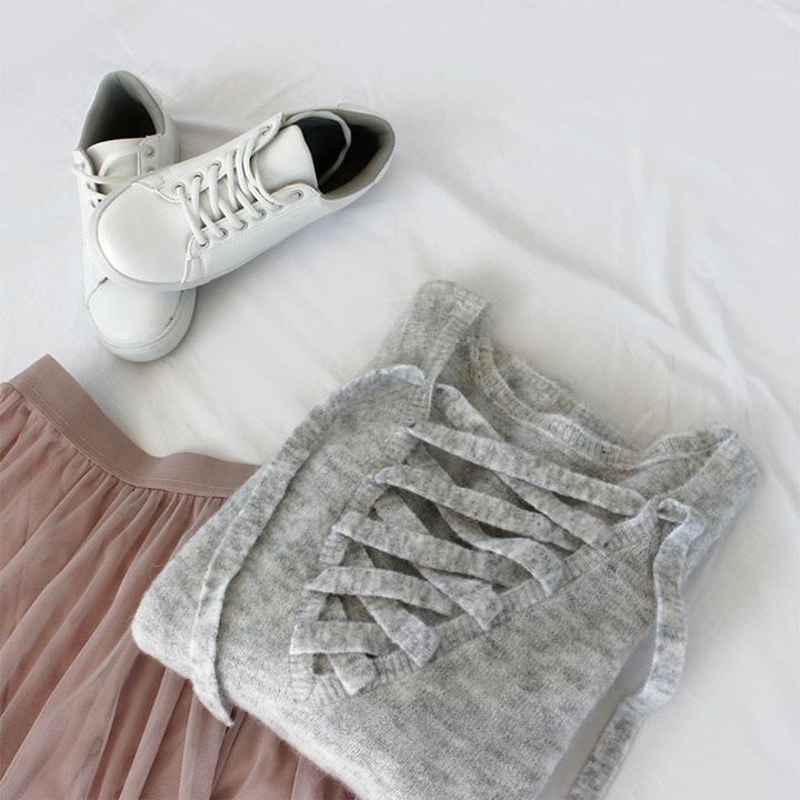 DAYTIME BALLERINA  Style a feminine ballerina skirt with a cool and cosy knit and you have the perfect trans-seasonal look