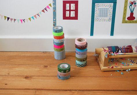 Ideas con washi tape: UN MURAL INFANTIL