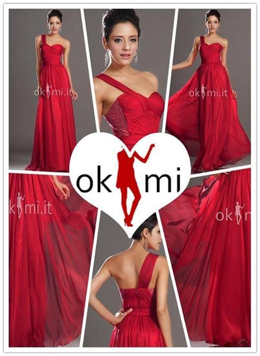 Nuovi abito da sera monospalla rossi~86.54€